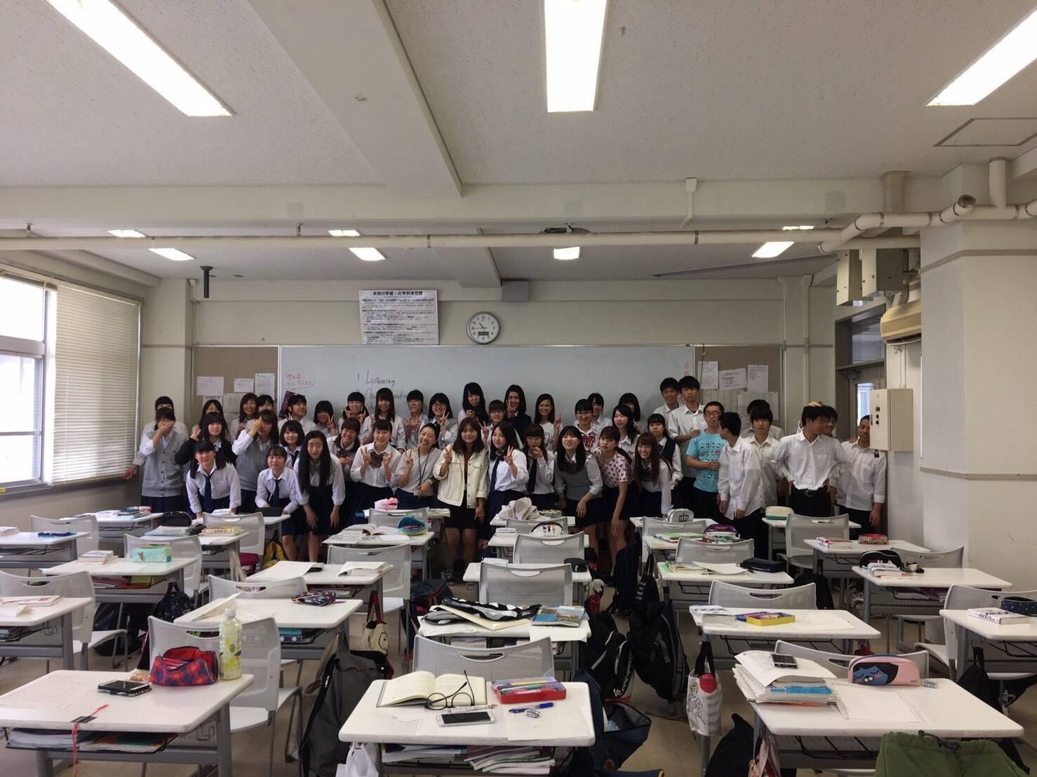 實習學生與日本學生合影