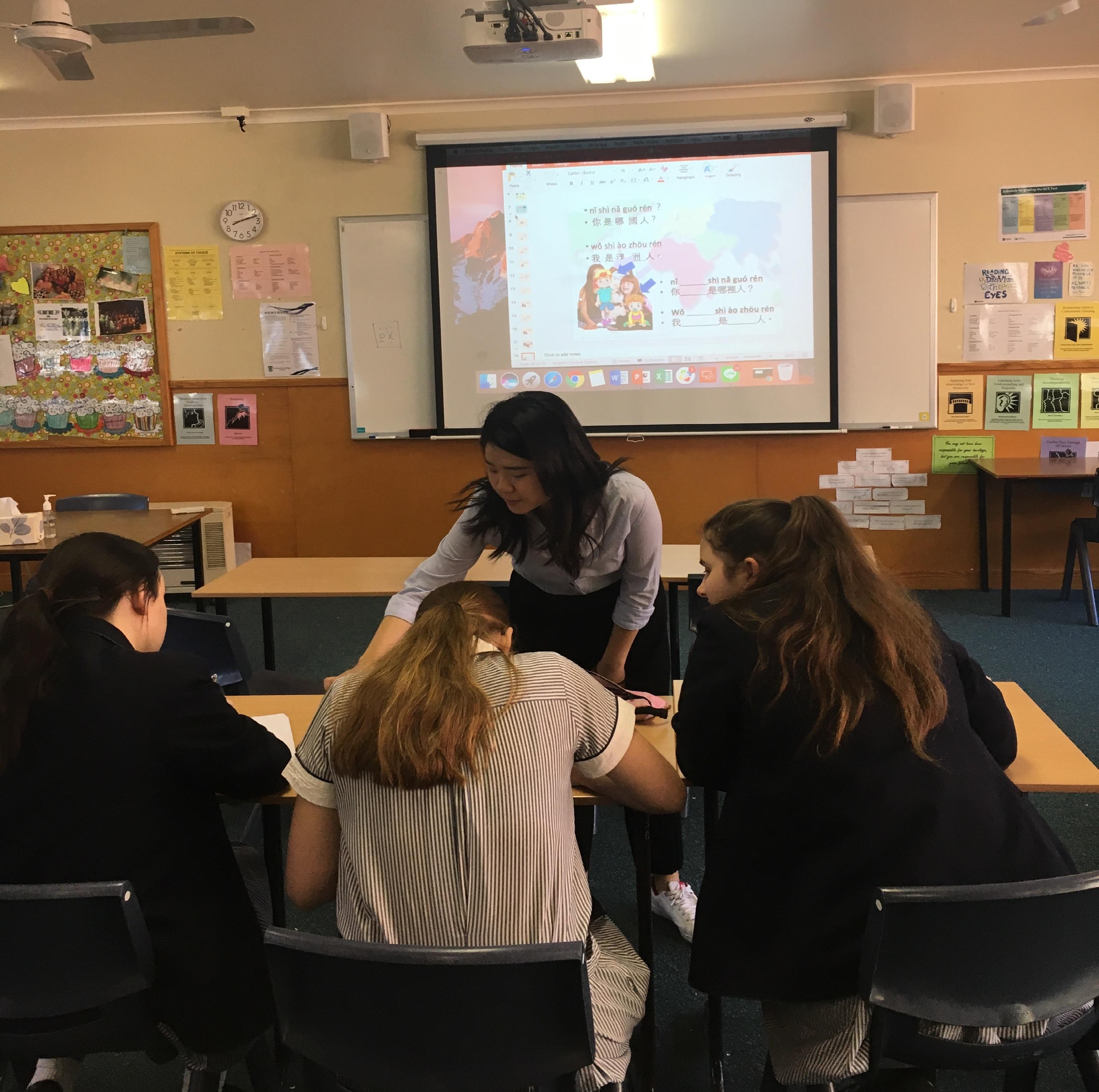 本系學生進行華語文教學過程