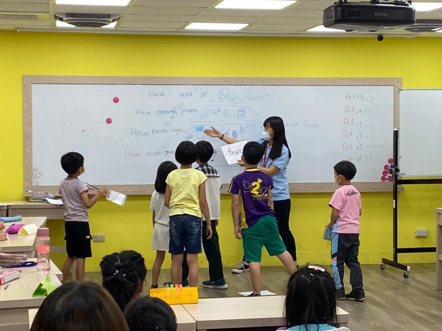 兒童班-邀請學員上台回答問題